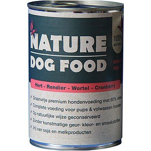 Nature dog food Hert, Rendier, Wortel & Cranberry 400 gram