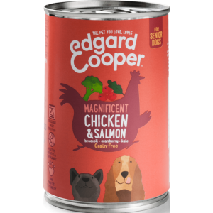 Edgard&Cooper  Kip & zalm (senior)400gr