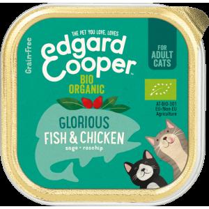 Edgard&Cooper bio fish bio kip-fleur's pet shop-natuurvoeding voor hond en kat-vlootjes-85gr