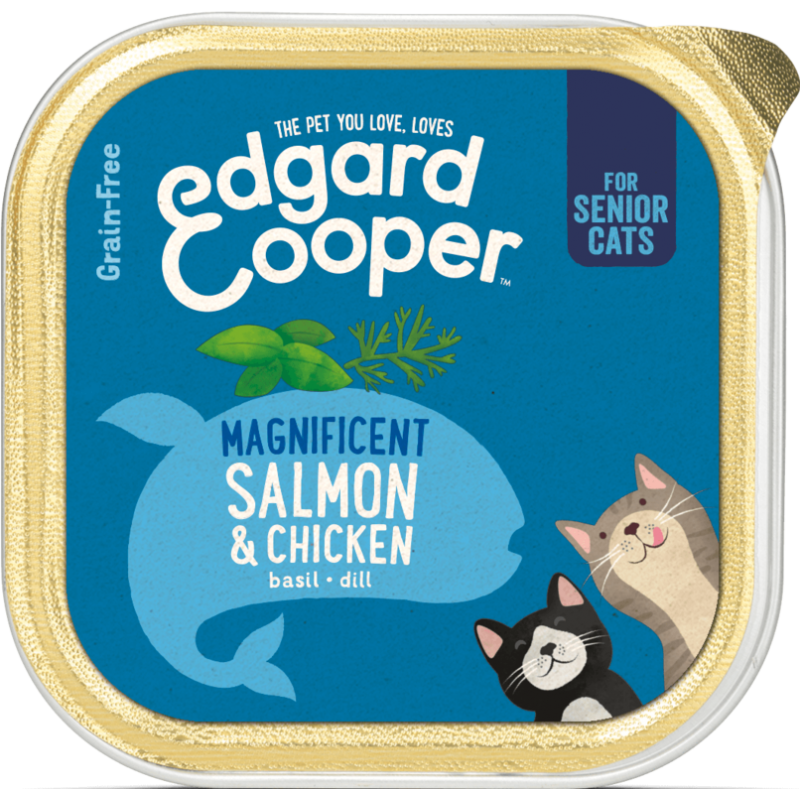 Edgard&Cooper salmon&chicken-senior-fleur's pet shop-natuurvoeding voor hond en kat-vlootjes-85gr