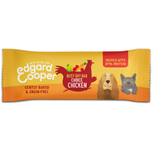 Edgard&cooper snacks Chicken busy day bar with apple, carrot & cranberry