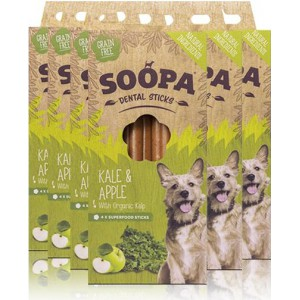Soopa Dental Sticks kale&apple 100gram-fleur's pet shop-vegetarische snacks voor honden